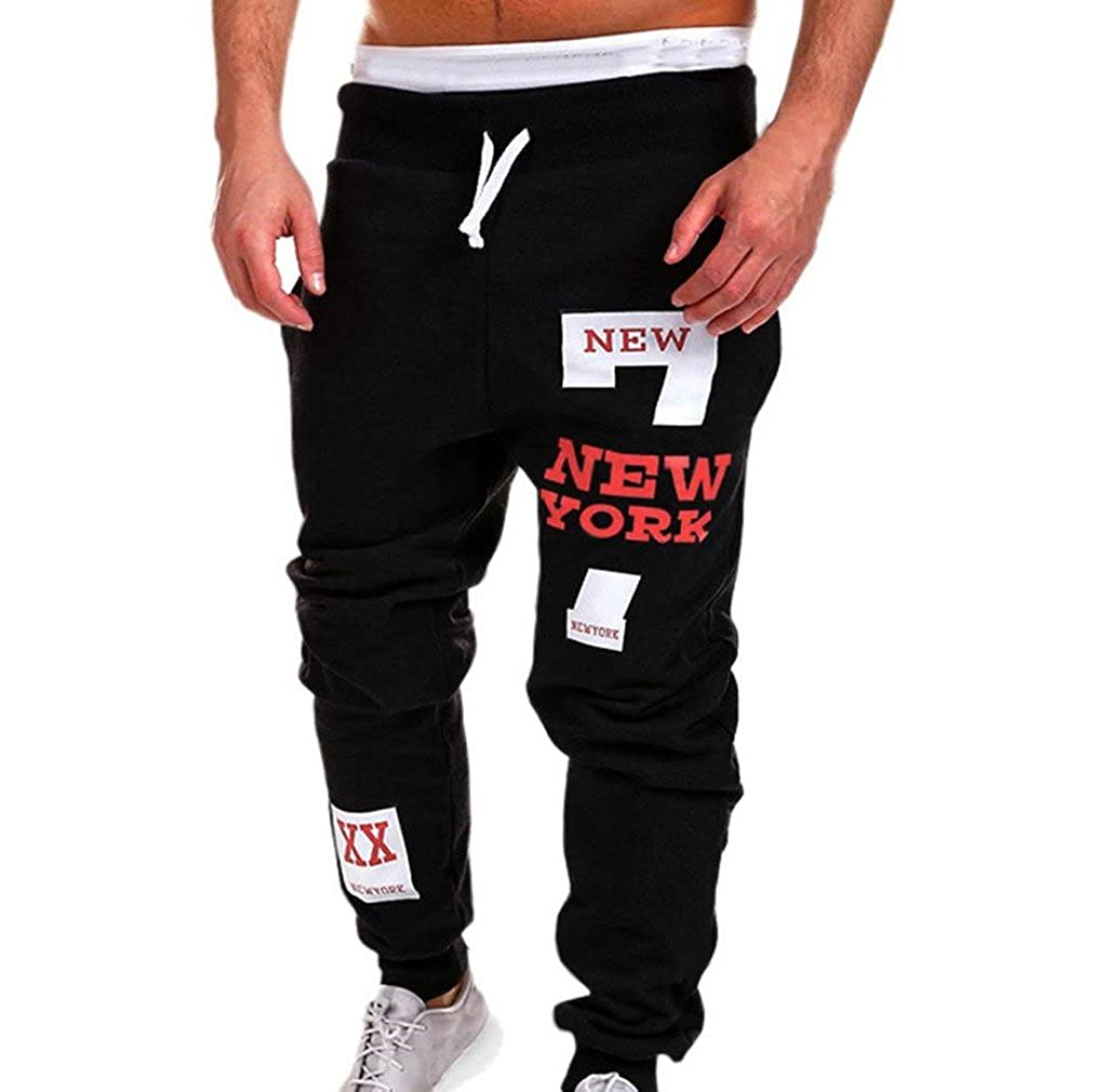 Men's trousers, Tefamore Mens Fashion Trousers Casual Sweatpants Men' s trousers