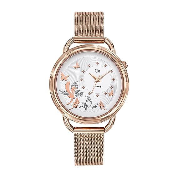 GO Girl Only Reloj Analógico para Mujer de Cuarzo con Correa en Acero Inoxidable 695195: Amazon.es: Relojes