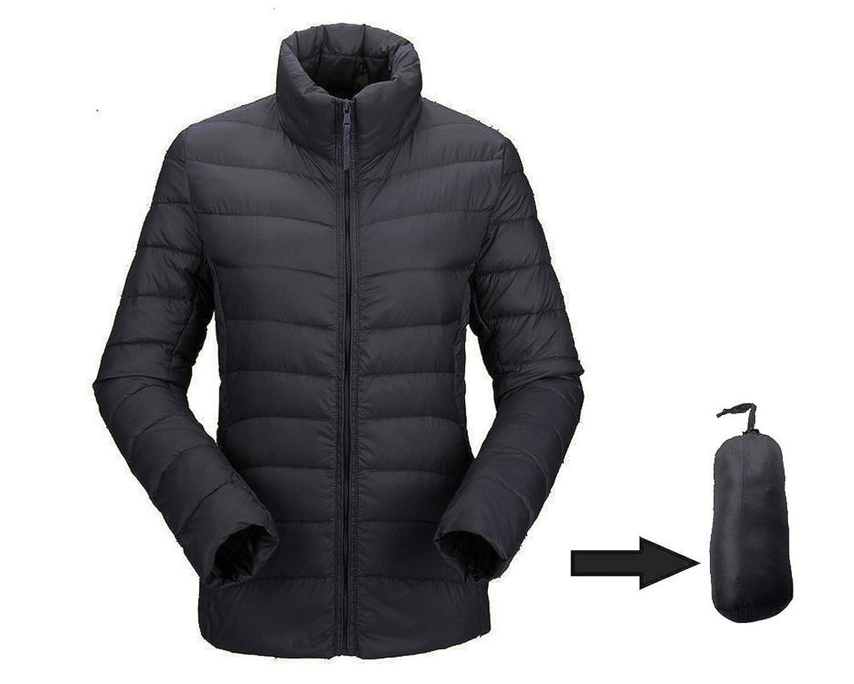 JJMG Women's Packabe Ultra Light Weight Down Coat Short Jacket ...
