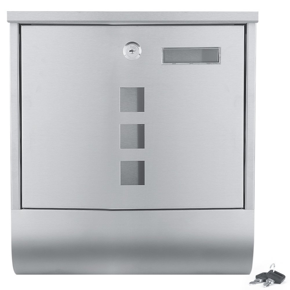 Fasmov Wall Mount Stainless Steel Drop Box,Inter-Office Mailbox, 13 x 3.3x 12 Inches