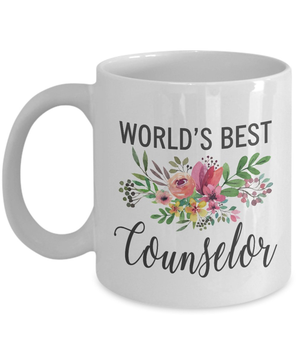 Worlds Best Counselor Mug – 面白いギフトfor most awesome Counselor Ever – Thank You Appreciationコーヒーカップ 11oz GB-2588495-20-White 11oz ホワイト B07CCMSC1D