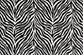 "Zebra Stripe Safari Print Vintage 100% Cotton Kitchen Table Placemats 13x19"" Set of 4 Black White"