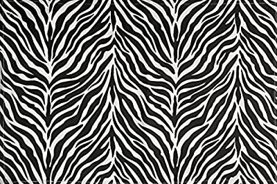 "Zebra Stripe Safari Print Vintage 100% Cotton Kitchen Table Placemats 13x19"" Set of 4 Black White"