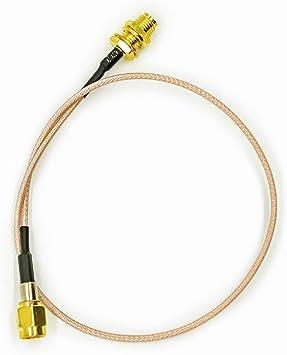 Vecys Cable SMA Dab + Cable de Antena WLAN Toma SMA a ...