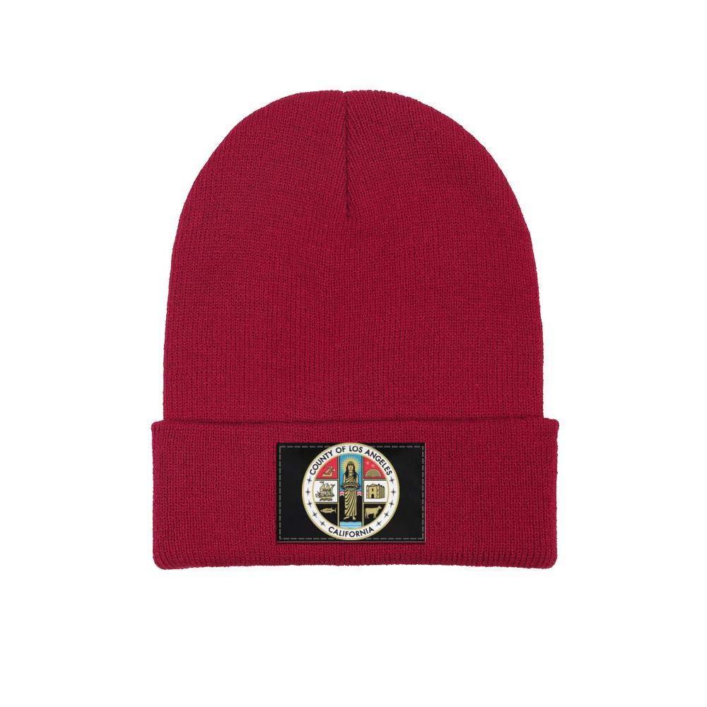 FYFYOK Mens Slouchy Beanie Hat Toboggan Hats County of Los Angeles California Stretchy Cap