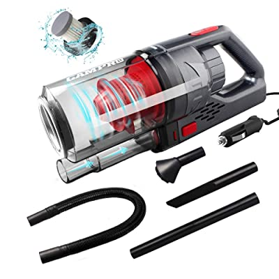 GAMPRO 6000PA Car Vacuum Cleaner, Handheld Vacuum Cleaner 4 in 1 NOZZLES 150W 12V 4.5M Cable Detachable HEPA Filter Low Noise, Wet/Dry Auto Vacuum Cleaner: Automotive