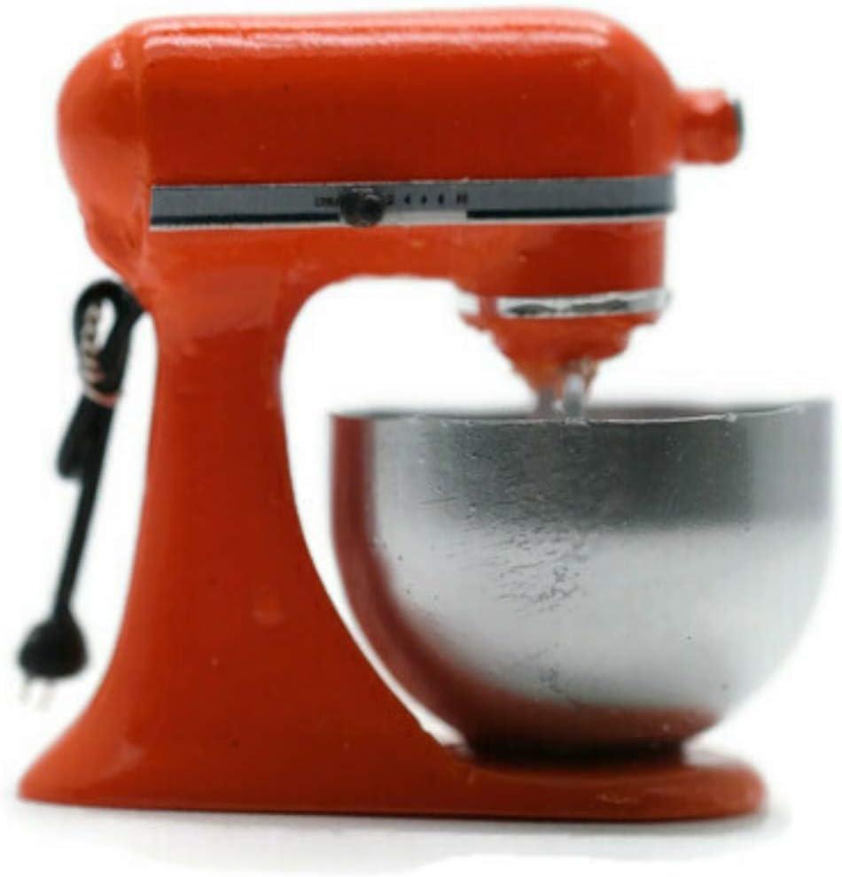 Vintage Orange Bread Dough Mixer Machine Dollhouse Miniature Kitchen Food Supply