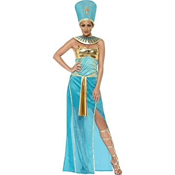 Nefertiti Womenu0027s Egyptian Goddess Costume Egyptian Queen Dress Costume Headdress Necklace Antique Ägypterin Pharaoh Costume Pharaonin  sc 1 st  Amazon UK & Nefertiti Womenu0027s Egyptian Goddess Costume Egyptian Queen Dress ...