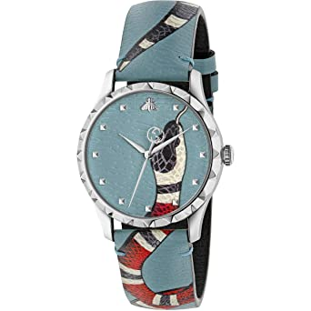 382a8763518 Amazon.com  GUCCI G- Timeless Textured DIAL with Snake Motif Unisex ...