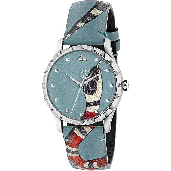 Reloj Gucci de Marcas Des Merveilles, de 38 mm de Serpiente Azul YA1264080: Amazon.es: Relojes