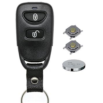 Auto Llave Mando a distancia 1 x Carcasa 2 Botones + 1 x Botón quemador + 2 x mikrotaster + 1 x CR2032 Batería para HYUNDAI/Kia