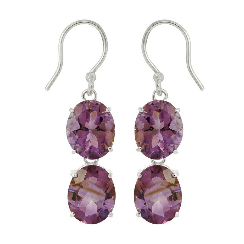 Amethyst Gemstone Dangle Earring
