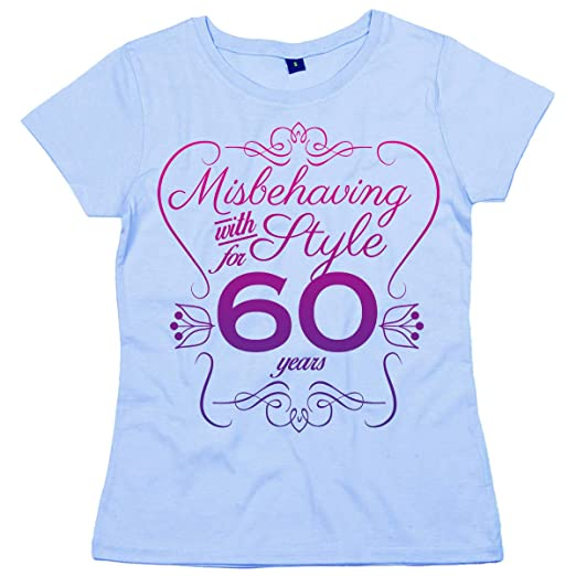 Dirty Fingers 60th Birthday EST 1958 Misbehaving With Style Womens T