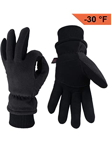 OZERO Winter Gloves -30°F Cold Proof Thermal Driving Glove - Insulated  Cotton and 0e42088d89f