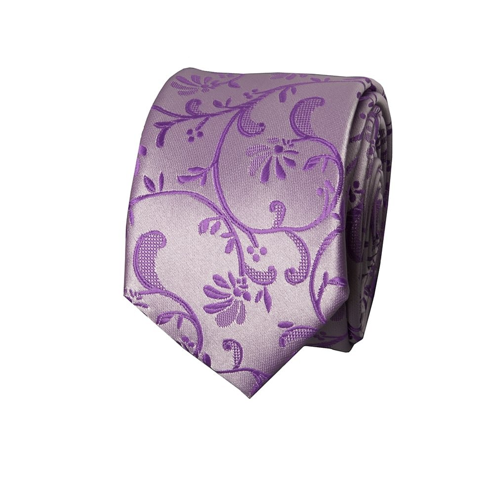 8d9df7c54470 TIES R US Cadbury Purple Floral Skinny Boys Tie and Pocket Square Set:  Amazon.co.uk: Clothing