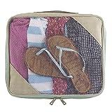 Lewis N Clark Packing Cube, Large, Beige/Mint