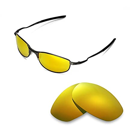 f65a8edd54a85 Walleva Replacement Lenses for Oakley Tightrope Sunglasses-9 Options  Available (24K Gold - Polarized