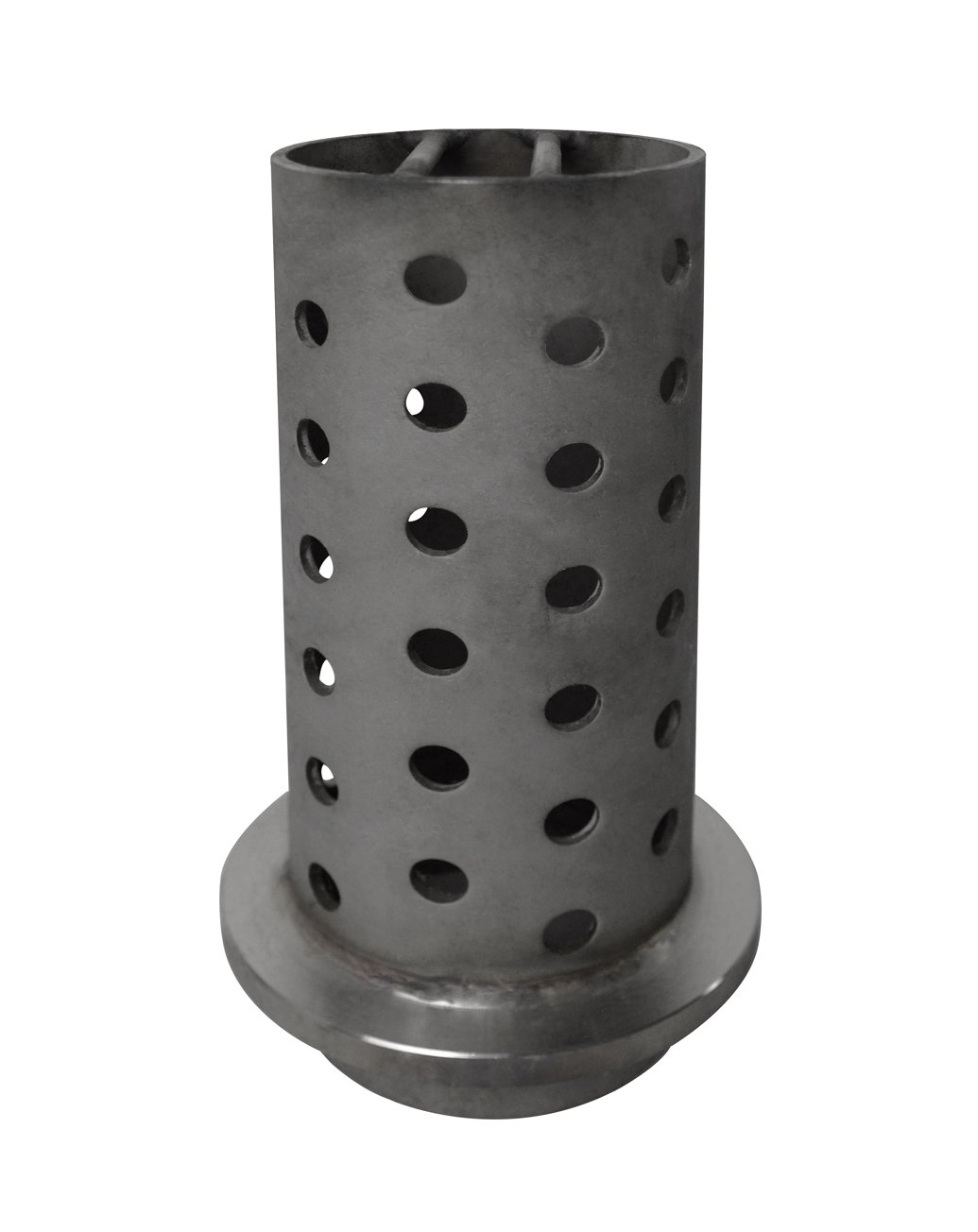 3'' x 8'' Perforated Flask with Flange Grade 304 Stainless Steel Flask Centrifugal Vacuum Lost Wax Casting Jewelry Making Tool