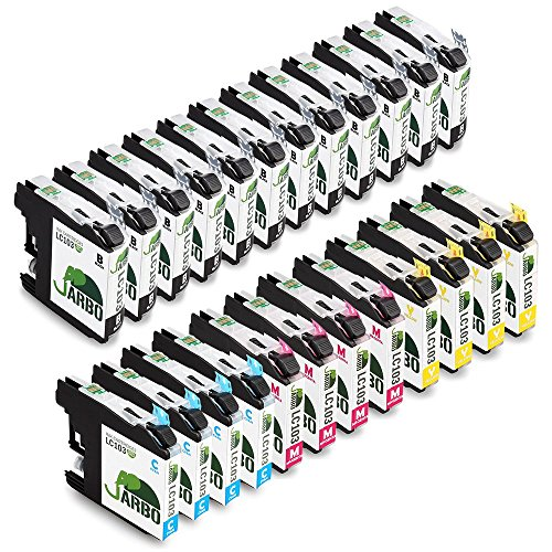 JARBO Compatible Ink Cartridge Replacement for Brother LC103 High Yield, (12 Black, 4 Cyan, 4 Magenta, 4 Yellow), for Brother MFC J870DW J450DW J470DW J650DW J4410DW J4510DW J4710DW J6720 J6920DW