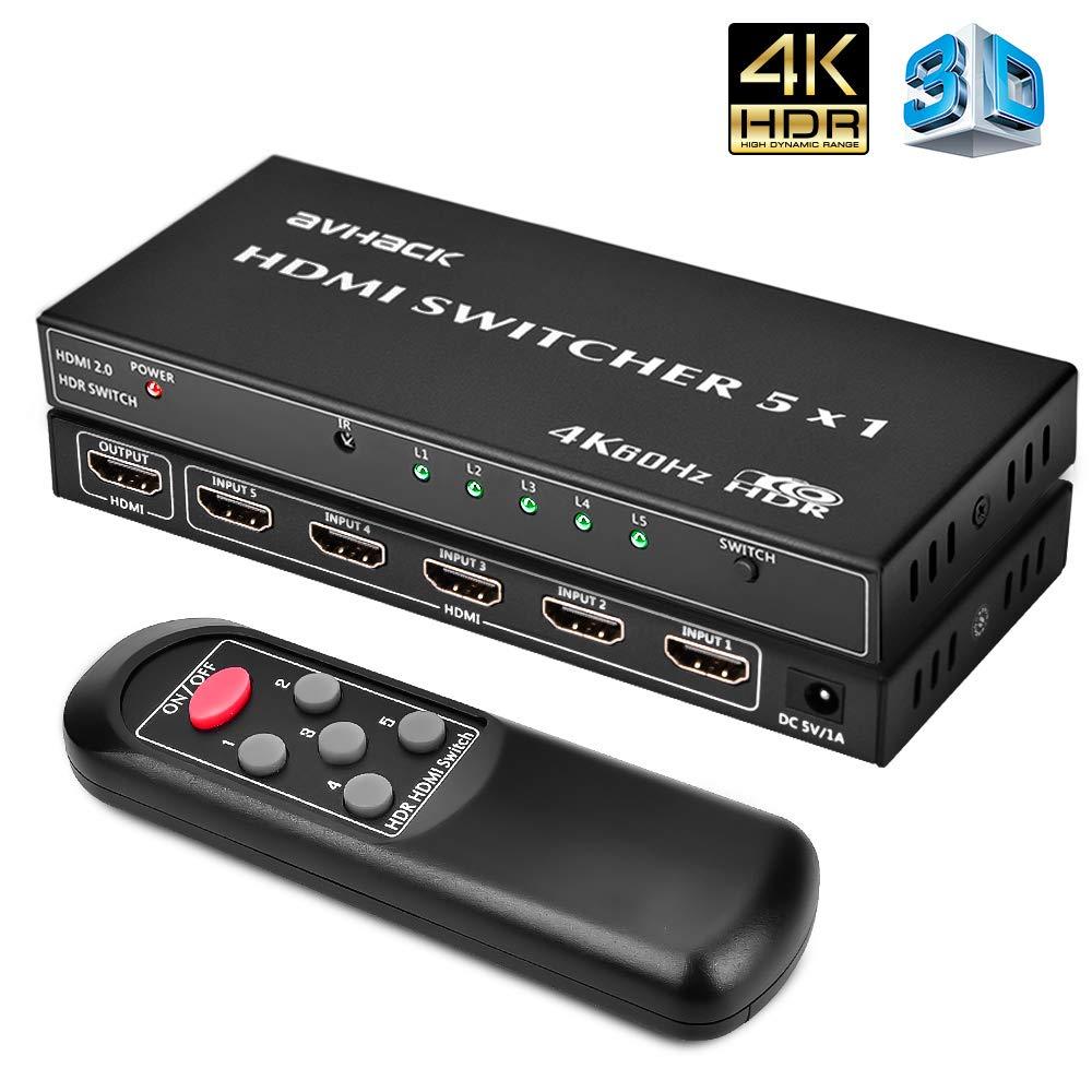 Amazon.com: 4K HDMI Switch-5x1 4K 60Hz HDMI Switch Box with IR