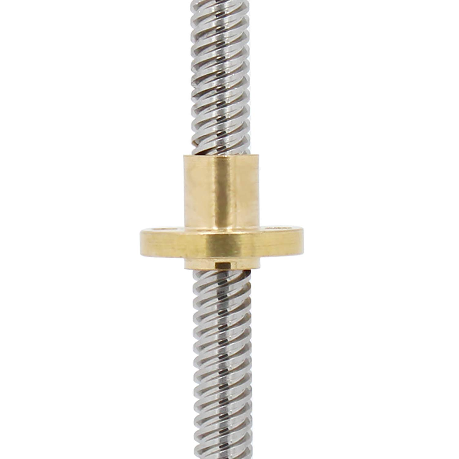 T8 Lead Screw Length 250mm 300mm 350mm 400mm 500mm for RepRap 3D Printers Parts Trapezoidal Screw Copper Nuts Leadscrew Part