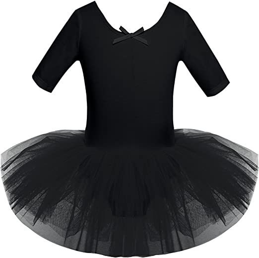 Kids Girls Ballet Dance Tutu Dress Gymnastics Leotard Skirt Dancewear Costume