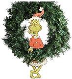 "Department 56 Snowpinions ""Grinch Dangler"" Christmas Wreath Decoration, 19.7"""