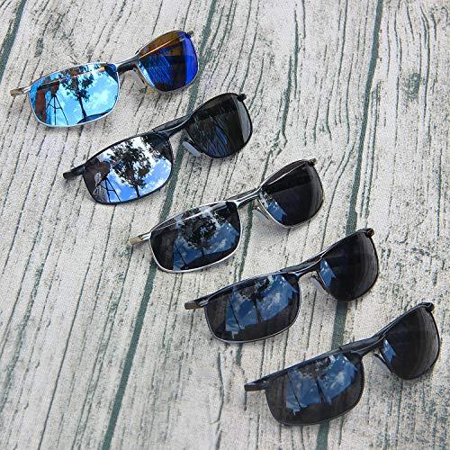 De Gafas Hielo Hombre Deportivas Plateado Para AMZTM Polarizadas Sol Gafas Azul nP7UTwwqR