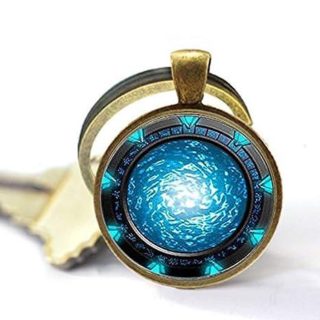 Stargate Portal Atlantis Llavero, llavero de Atlantis con diseño de atantis, llavero de estrella de atantis, regalo personalizado, llavero