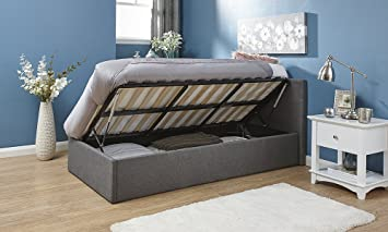 Amazing Home Source Classic Gas Side Lift 4Ft6 Double Fabric Ottoman Storage Bed Grey Pdpeps Interior Chair Design Pdpepsorg