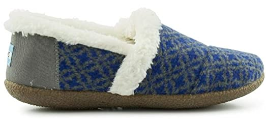 Toms Classic Blue Grey Shearling Womens Slippers Shoes -8: Amazon ...