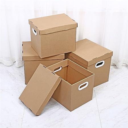 DHWOP Rack de Almacenamiento de Escritorio Oficina de Almacenamiento de Documentos Caja de cartón Corrugado Juguete Misceláneas Almacenamiento (tamaño : 33 * 25 * 25cm): Amazon.es: Hogar