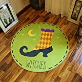 HOMEE Cartoon round carpet study cloakroom children's room carpet computer chair swivel chair basket mat,80 Cm,4