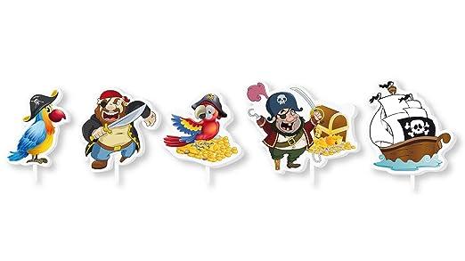 Velas Piratas para Fiesta Cumpleaños Decoración Tarta ...