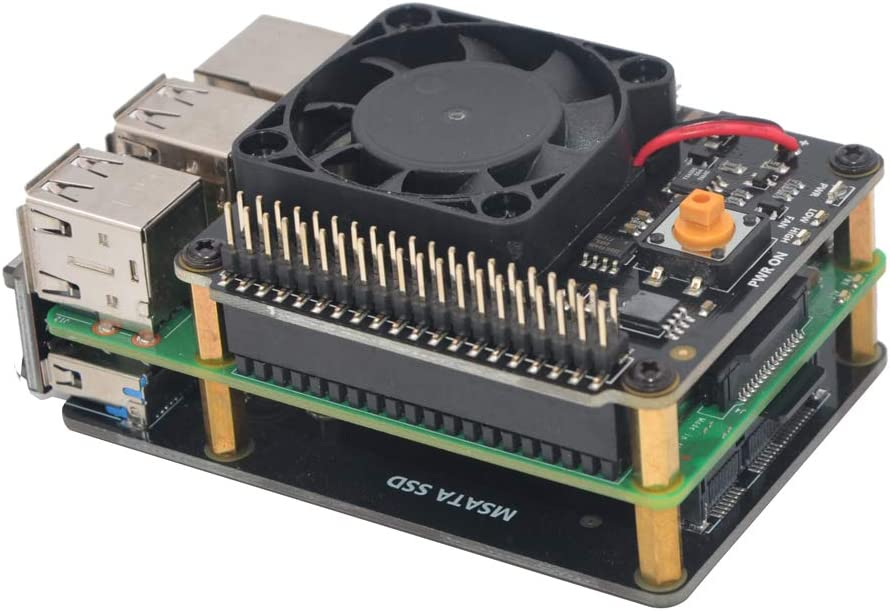 WINGONEER X730 Multifunctional Power Management Board Intelligent and Safe Power Management with Automatic Temperature Controlled Fan for Raspberry Pi
