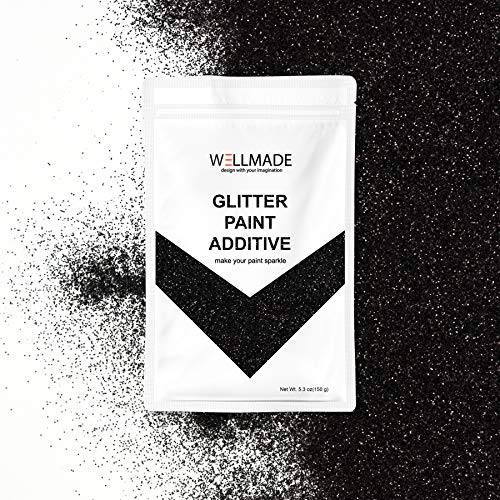 Wellmade Glitter Paint Additive for Wall Paint - Acrylic Latex Emulsion Paint - Interior Exterior Wall, Ceiling, Wood, Varnish, Dead Flat, Matte, Gloss, Satin, Silk (10g/Sample ()