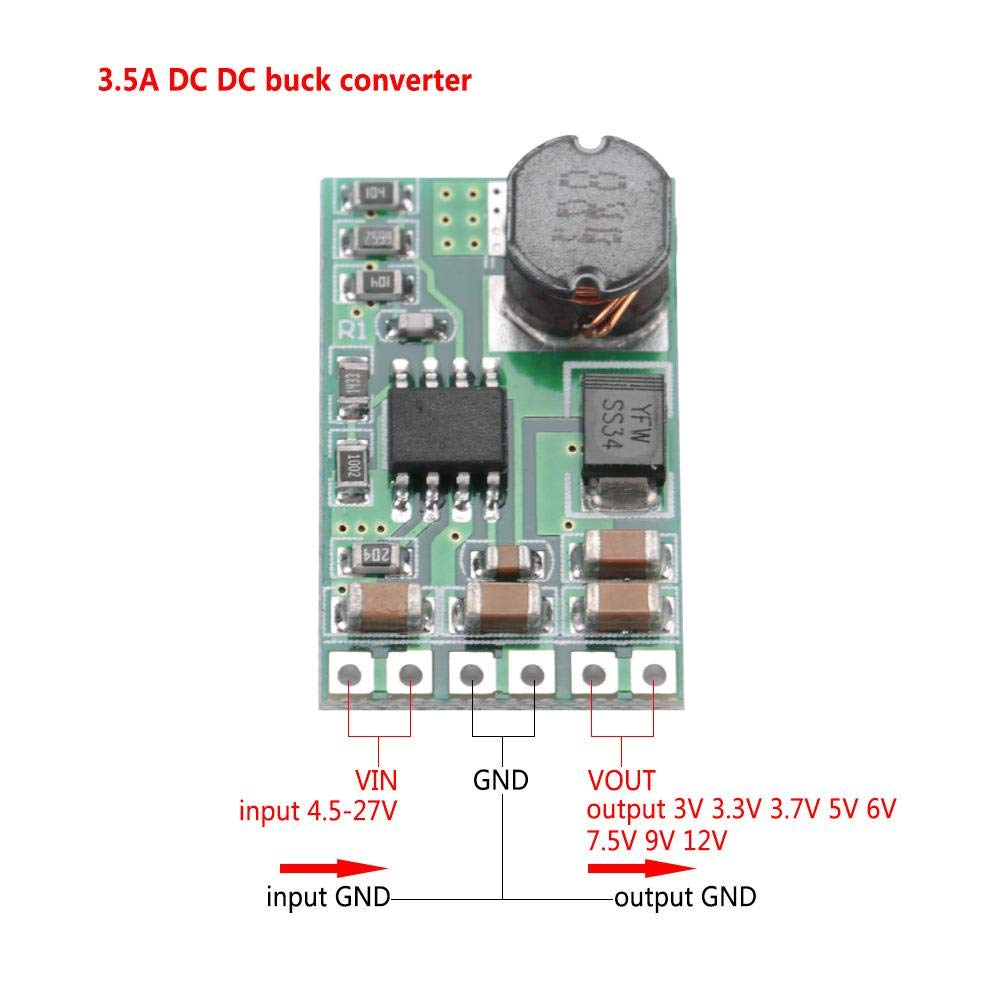 12V 5 V DC-DC-Abw/ärtswandler 5-27 V auf 3,7 V 12 V Abw/ärtswandlungs-Stromversorgungsmodul 9 V
