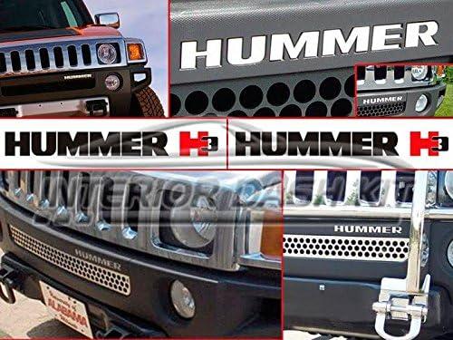 Ext/érieur Lettres Pare-Chocs Inserts Emblem Indentation Set pour 2006 2007 2008 Hummer H3T H3T H 3 T