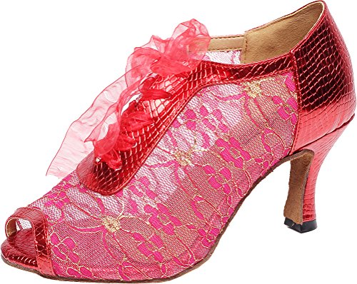 CFP - baile-salón de baile mujer Rojo
