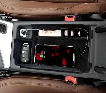 Xinchout - Cargador inalámbrico para Coche, Caja de Carga inalámbrica, Bandeja Central de Almacenamiento, Kit de Accesorios para Auto, para Audi A4 A5 ...
