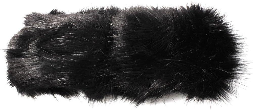 Accessoryo fausse bandeau de fourrure avec strass Broche disponible dans une s/élection de couleurs