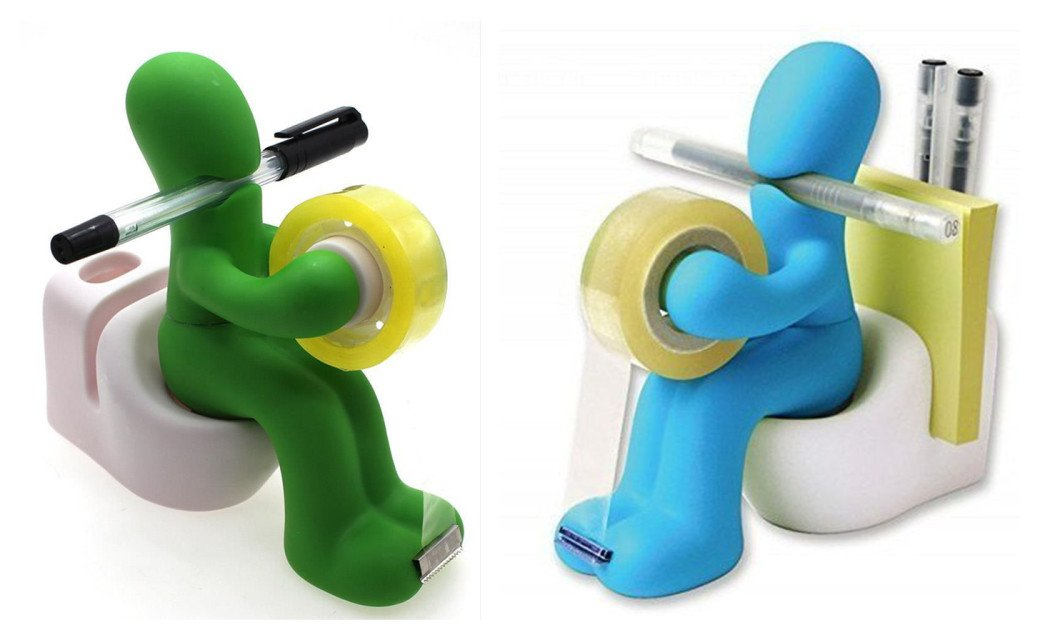 Supply The Butt Station Tape Dispenser Pen Memo Clip Holder Card Office School (Green)