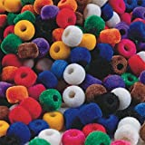 S&S Worldwide BE1272 Fuzzy Pony Beads, 1/2 lb. Bag (Pack of 850)