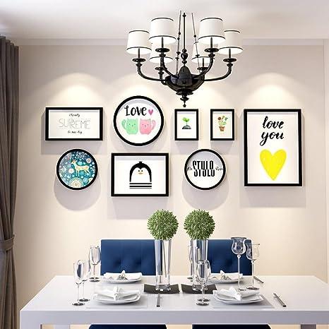 Daeou Salón Xuan Guan decoración pintura combinación dormitorio comedor marco colgante portaretrato de pared