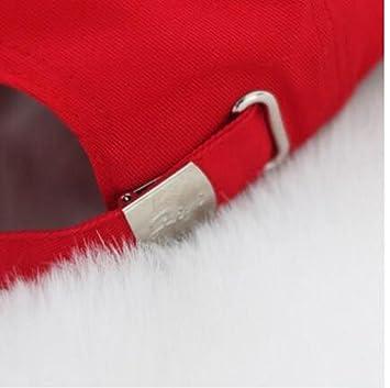 KIKIYA Gorra de béisbol Llana de la Moda de Las Mujeres Gorras Planas de la  Cadera Ajustable de la Moda roja del algodón  Amazon.es  Deportes y aire  libre b54393298b9