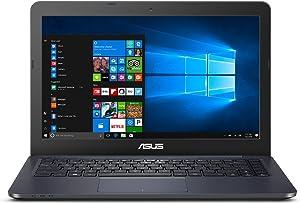 2018 ASUS L402SA Portable Lightweight Laptop PC, Intel Dual Core Processor, 4GB RAM, 32GB Flash Storage + 500GB Hard Drive Windows 10 with 1 Year Microsoft Office 365 Subscription