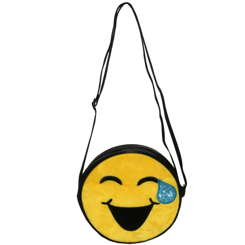 Emojination Love and Laughter 2-Sided Matt PVC Crossbody Bag, Adjustable Straps