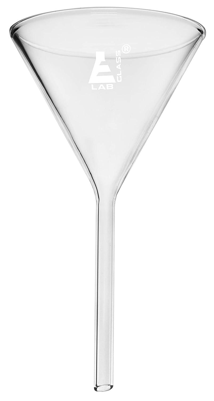 100mm Diameter -Borosilicate Glass 4 Plain Stem Heavy Duty Filter Funnel Eisco Labs