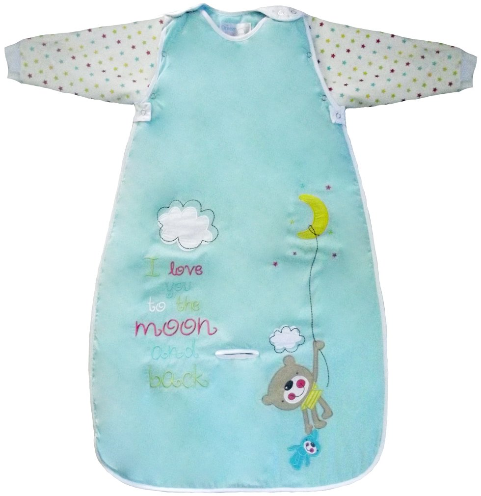 LIMITED OFFER! The Dream Bag Baby Sleeping Bag Long Sleeved Travel Moon and Back 18-36 Months 2.5 TOG - Aqua