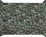 Forum Novelties Dungeon Decor 20 X 4 ft Roll Indoor/Outdoor Stone Wall Decoration, Gray